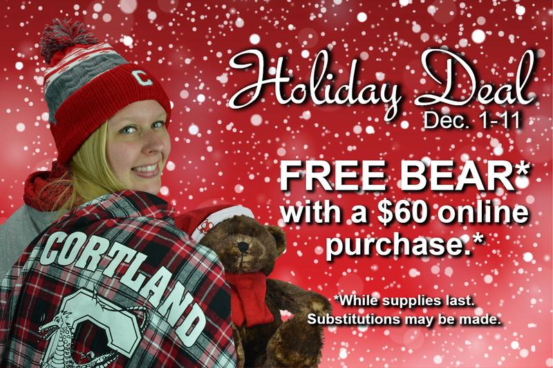 Holiday Deal! Free Cortland stuffed bear