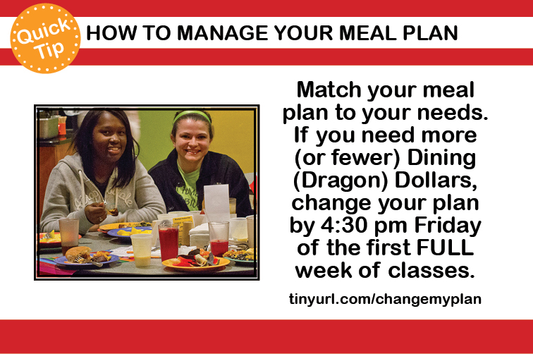 How to Manage Your Meal Plan
