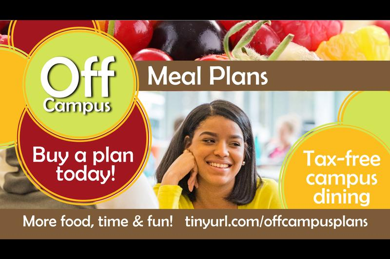 Off Campus Meal Plans 2016